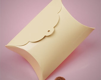 10 Tab Top Pillow Boxes 3 and 7/8 X 1 and 3/8X 3 and 7/8 Inch Size  Great Packaging for Gifts, Party Favors, and More