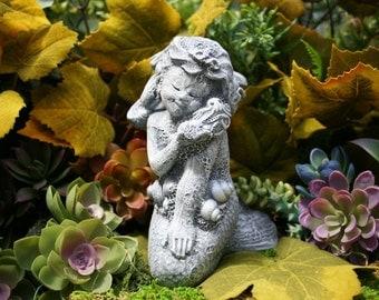 "Mermaid Statue - ""Mershell"" Concrete Mermaid Garden Sculpture"