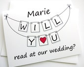 Will You Read At Our Wedding? - Personalized Pennant Design