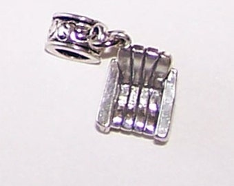 Sterling 3D PORCH BEACH CHAIR Bead Charm for All Name Brand Add a Bead Charm Bracelets