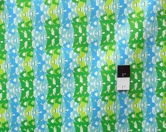 CLEARANCE Free Spirit Design Loft PWFS003 Kaleidoscope Striped Lime Cotton Fabric 1 Yard
