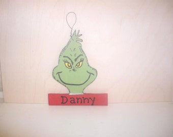 Grinch Christmas Ornament - Personalized