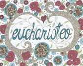 Eucharisteo Note Cards, Grace, Thanksgiving, Joy, Personal Note