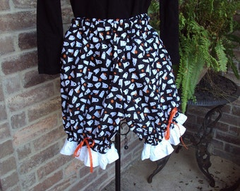 Ghostly bloomer shorts--Design your Own Costume  girls size  Med  OOAK