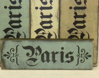 PARIS CHIC SIGN / Paris apartment chic / Paris wall sign / shabby chic Paris sign / hand painted sign / shabby chic sign / wood Paris sign