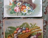 Vintage, Gorgeous Spring, Easter Trade Cards (2) - Grocery Store Advertisement