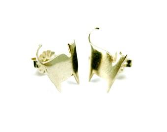 Silver Cat Earrings