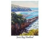 REALISTIC BEACH PAINTING Rocky seascape fine art by g.gercken