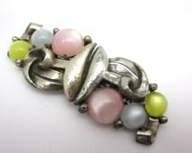 Coro Duette - Moonglow Lucite Brooch Dress Clips
