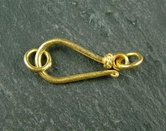 Gold Vermeil Hook Clasp 19mm (CG4757)