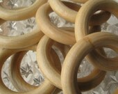 Czech Republic 10 Hardwood Wooden Curtain Rings Drapery Holiday Crafts