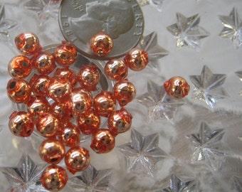 30 Glass Garland Beads Czech Republic Glass Christmas Garland Beads 6mm Copper