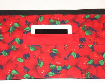 Vendor Half Waist Apron iPad Craft Teacher Art Red Apple Fruit Orchard Fabric (4 Pockets)