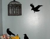 Crow Raven Blackbirds Decal Sticker Vinyl Halloween Decal