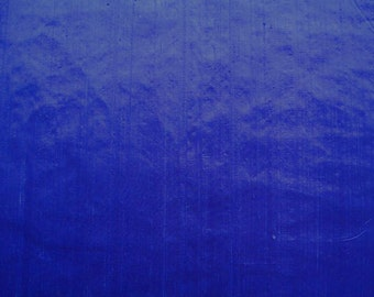 Silk Dupioni Cobalt Blue Iridescent Shiny 1/2 yard