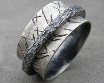 His Spinner - Chunky Spinner Ring - Memory Ring