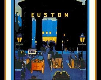 Euston Station London Refrigerator Magnet   - FREE US SHIPPING