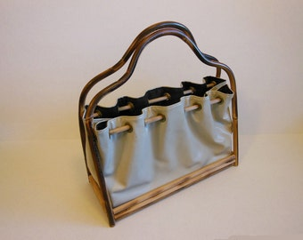 50s purse / Tiki Temptation Vintage 1950's Bamboo Purse