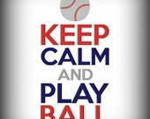 Keep Calm and Play Ball Machine Embroidery Design