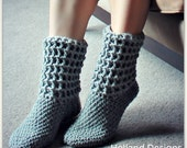 Download Now - CROCHET PATTERN - Ladies Waffle Boots - All Sizes - Pattern PDF