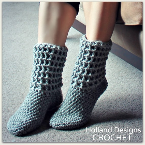 Download Now CROCHET PATTERN Ladies Waffle Boots All