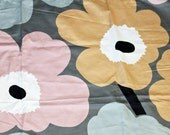 Marimekko powder color Unikko satin cotton - A PIECE