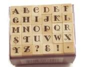 Mini Alphabet Rubber Stamp Set  (ARS-4)