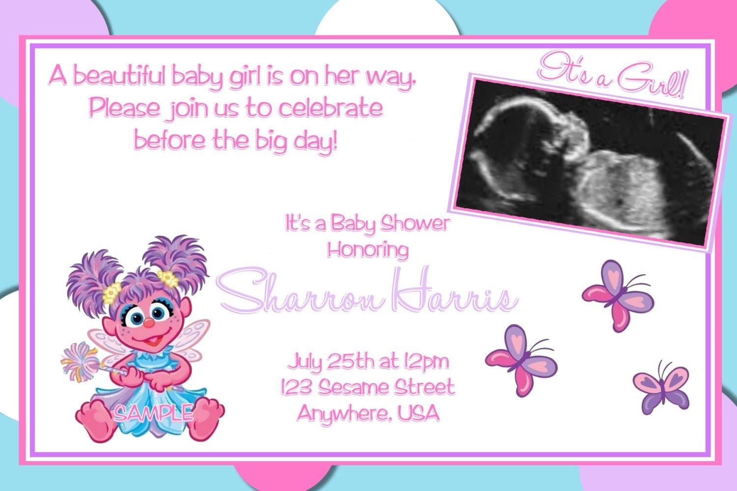 Abby cadabby sesame street baby shower invitations free - Sesame street baby shower ...