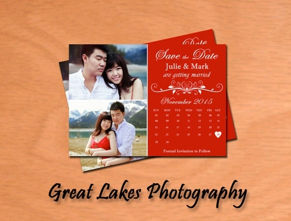 Personalized Save The Date Card - Digital File