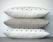 CUSTOM Studded Pillow | Gold Brass Silver Copper | Decorative Pillow by JillianReneDecor (12x20) Modern Home | Metallic | Polka Dot Pattern