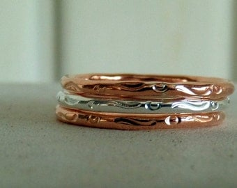 Copper and Silver Stacker Set