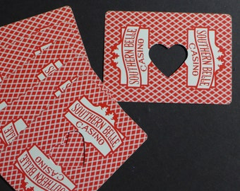 Southern Belle Casino Cards Heart Frame Cut Outs