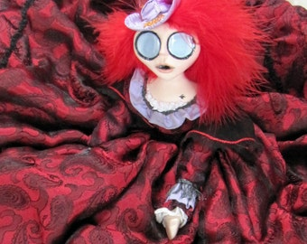 Red Harrington - Fantasy Gothic Lone Ranger Art Doll