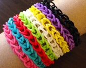 16 Solid single chain rubber band bracelet RESERVED FOR AURORA D