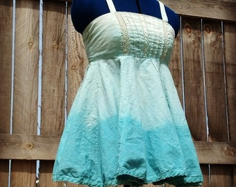 "Sugar River Angel Top dip dyed cotton 32"" - 35"" bust ~Lazy Mare Homegrown Original~"