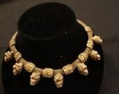 Estate 14k GF Antique Lion Head Necklace France