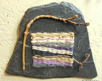 Small Fiber Art Wall Hanging by The Bent Tree Gallery SALE was 99.00