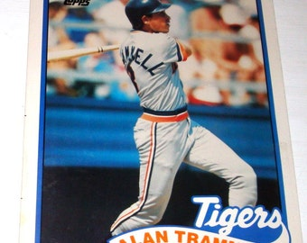 Vintage Collectible Baseball Folder, Alan Trammell, Tigers, Major League Baseball Player, Topps, No. One  (228-14)