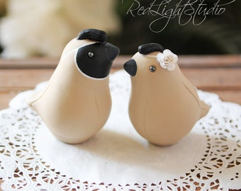 Quail Wedding Cake Topper - Medium