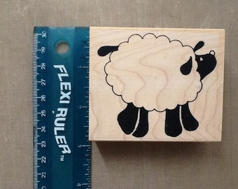 Luni mounted grey rubber stamp Sheep