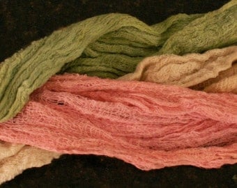 Hand Dyed Cheesecloth -- New Lower Price!