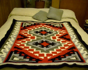 afghan approx 44 x 48 inches indian desine