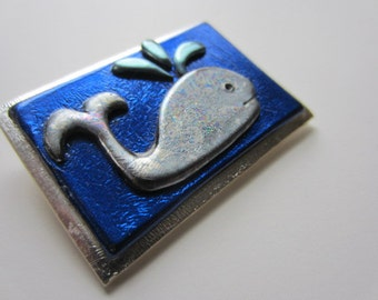 Whale Pin Brooch