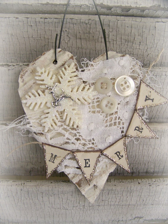 Handmade Christmas Ornament Vintage Lace Ornament Vintage