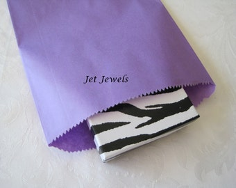100 Gift Bags, Party Favor Bags, Purple Paper Bags, Paper Gift Bags, Kraft Bags, Candy Bags, Colored Paper Bags 6x9