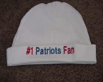 New England Patriots Football Baby Infant Newborn Hat Beanie  Hat Cap