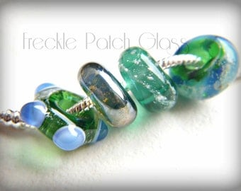 Pet Cremation Glass Bead Charm , European Charm Bracelet Style , Large holes with sterling silver grommets, APPROX price