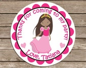 Princess Tatiana-- address or name or party stickers--choose size--choose glossy or matte