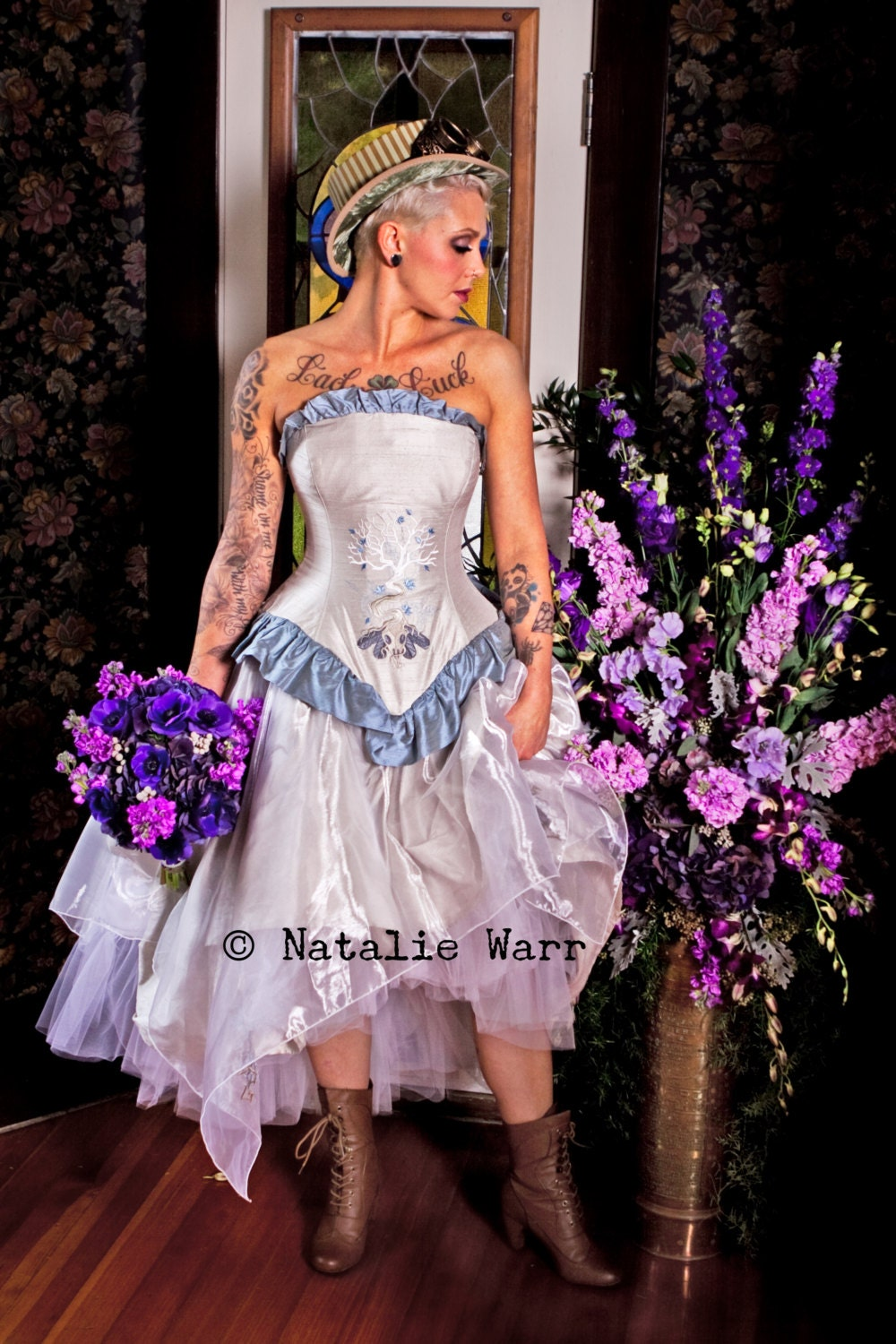 steampunk fantasy wedding dress tree of life by kmkdesignsllc