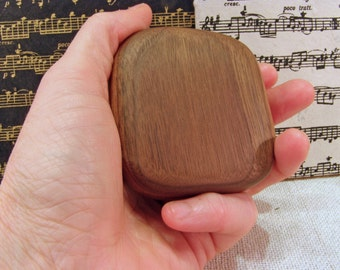 Music Rattle, Black Walnut Wood, rhythm instrument, eco gift, gift for musician, relaxation gift, childrens music, desk toy, drum circle